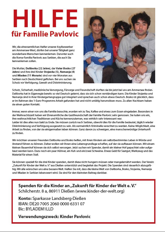 Hilfe für Familie Pavlovic